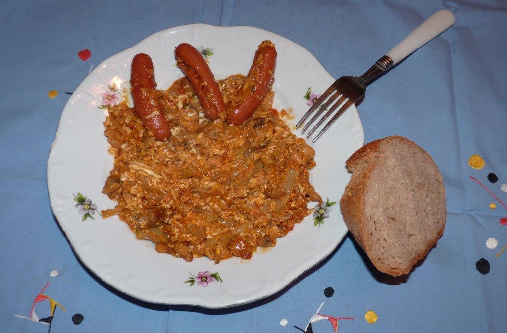 Gombás Lecsó (gyors vacsora)